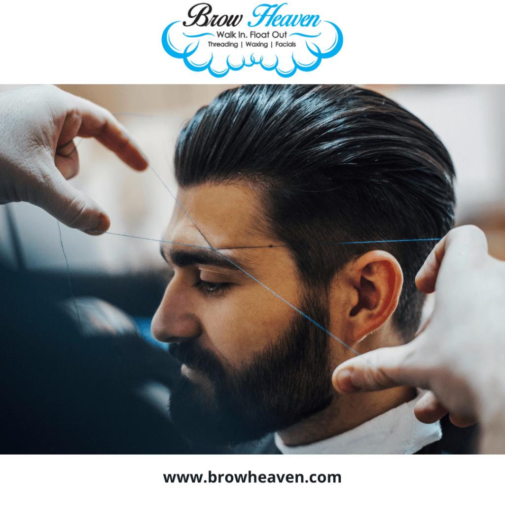 Eyebrow Threading for Men